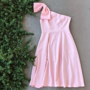 Gal Meets Glam Yvonne Pink Bow A-Line Dress
